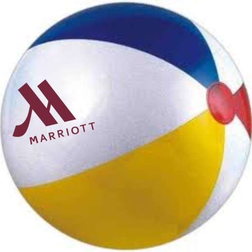 "Beach Balls - 16"" - Multi-colored."