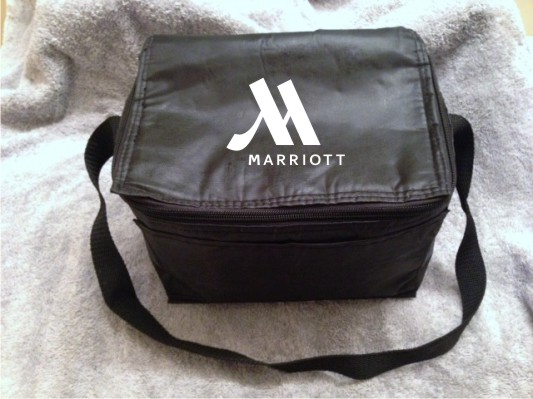 """Hot/Cold Bags - Insulated - 6""""H x 9""""W. - Pocket Outside - Zippered Top - Adjustable Strap."""