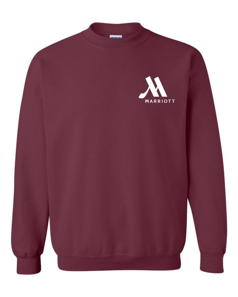 Sweatshirts, Maroon.   Crewneck.