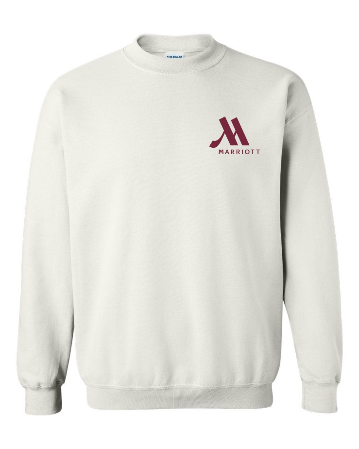 Sweatshirts, White.   Crewneck.