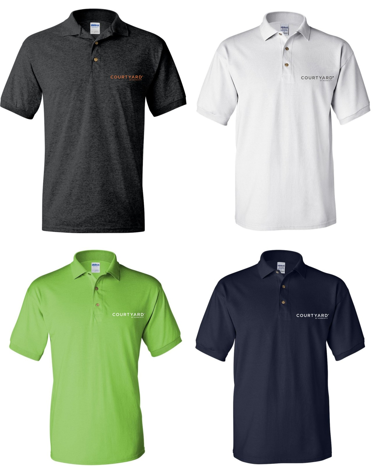 Polo Shirts Dark Heather White Lime Green And Navy Blue Silk