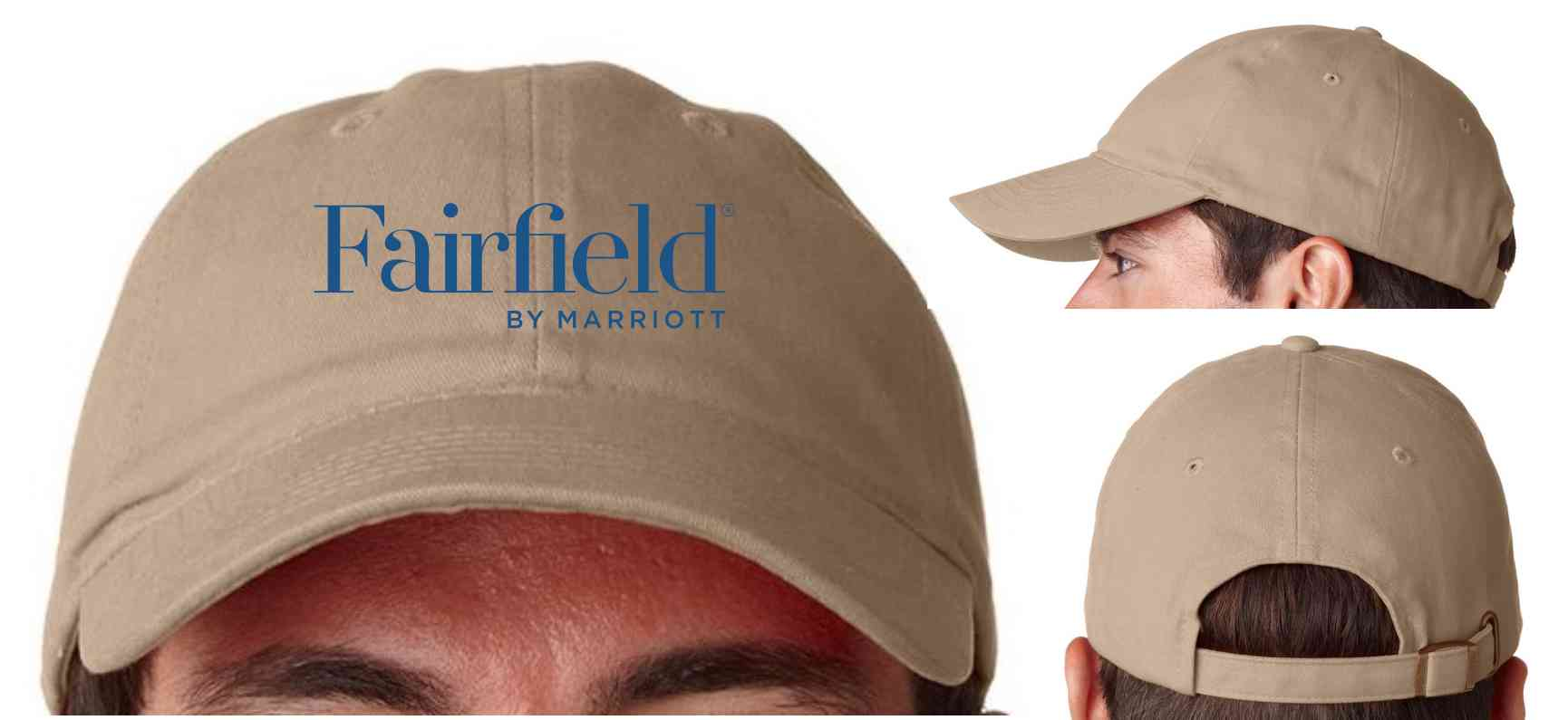 Embroidered, Brush Cotton Twill Cap - Triple stitched sweatband - Adjustable brass-snap buckle