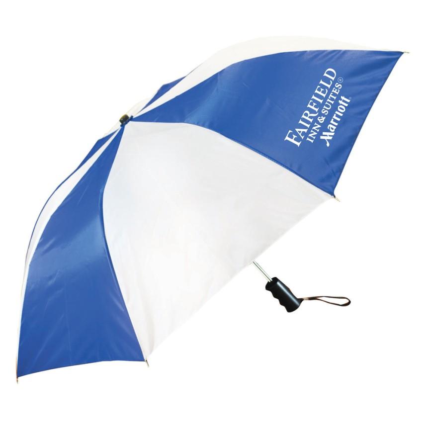 "42"" Auto Open Umbrellas - 2 Logos (one on each side)"