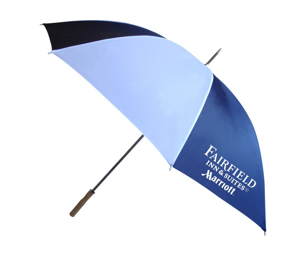 "62"" Large Gatehouse / Golf Umbrellas - 2 Logos (one on each side)"