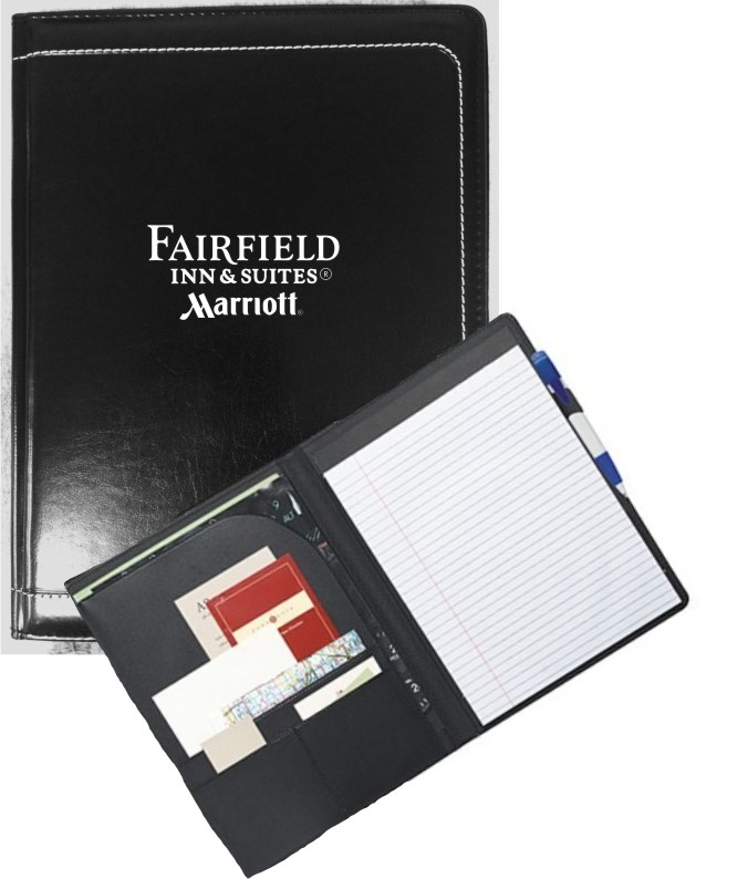 Writing Portfolio - interior organizer with pen loop and writing pad
