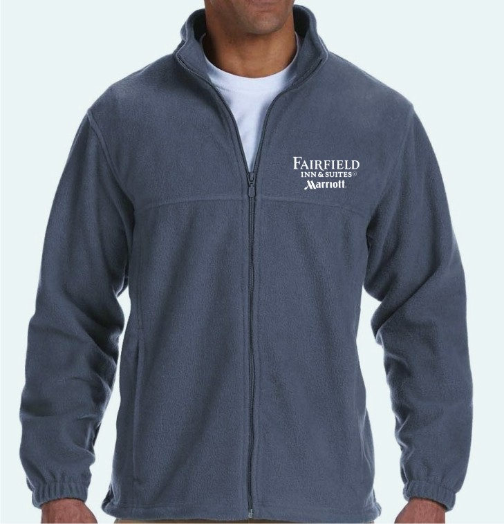 Full-Zip Fleece Jackets - 100% Spun Soft Polyester - Highly Breathable - Front Zip Pockets