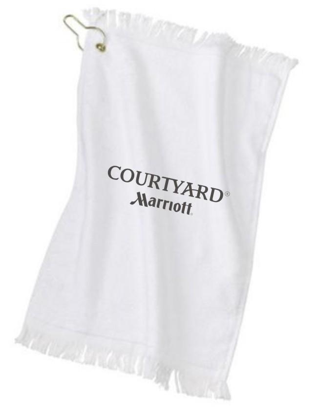 """Golf Towels - 11"""" x 17"""" - 100% Cotton Terry Velour - Steel Grommet Hook"""