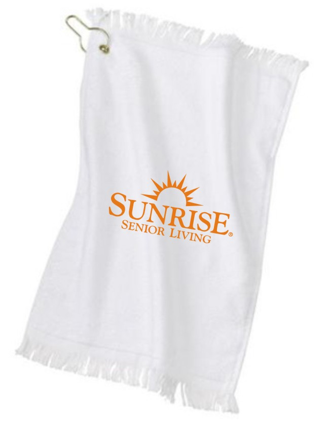 """Golf Towels - 11"""" x 17"""" - with Gold Grommet Hook"""
