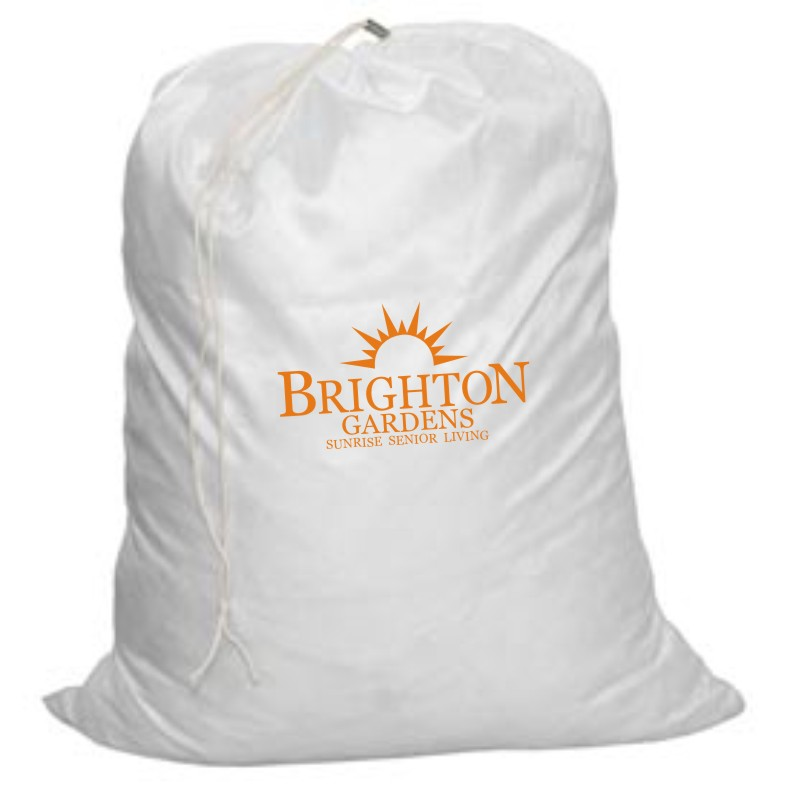 """Laundry Bags. 28"""" H x 22"""" W. White with Drawstring"""