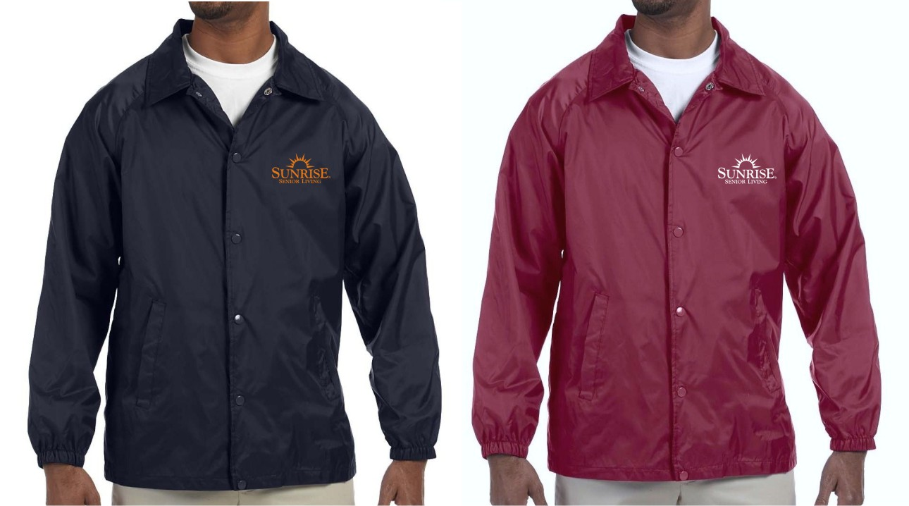 Lined Jackets, Navy and Maroon. - Nylon Shell - Polyester Lining - Elastic Cuffs - Fold Down Collar