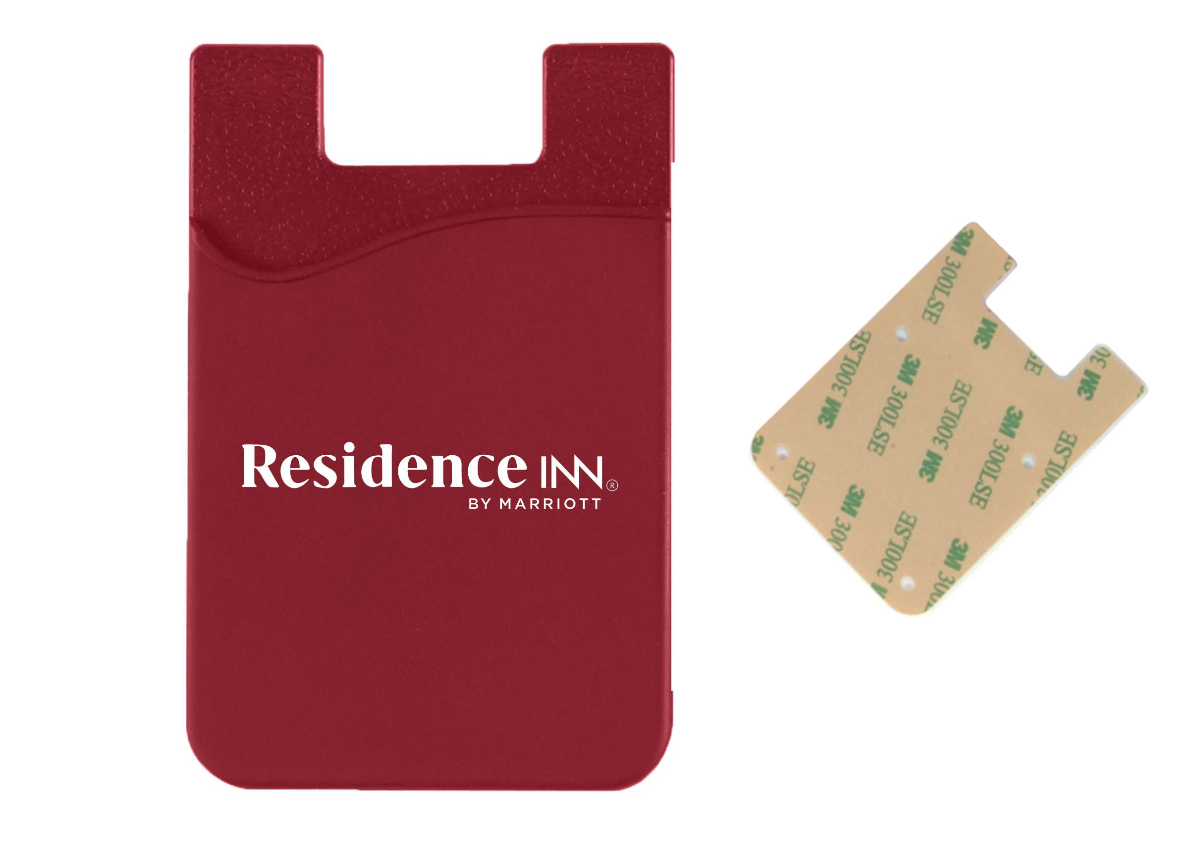 """Silicone Phone Wallet - Powerful 3M Adhesive - Perfect For Carrying Identification, Room Keys, Cash Or Credit Cards! (3.5""""H x 2.25""""W)"""