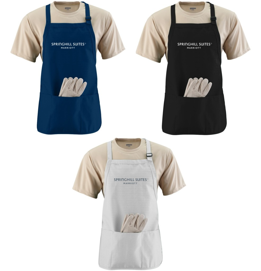 Aprons - 3 Compartments - Adjustable Strap - Made of Durable Cotton Twill