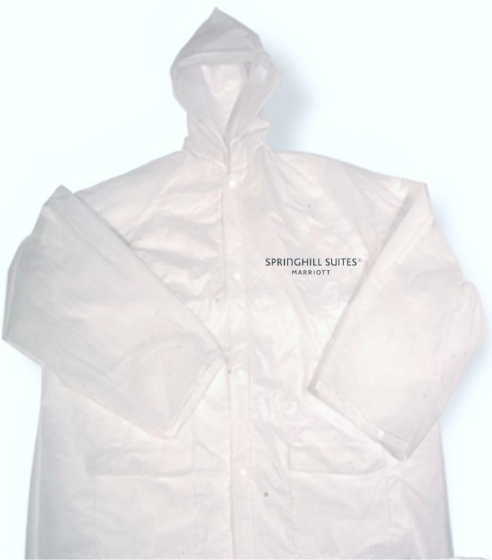Rain Jackets - Lightweight - Button Down - 2 side pockets - Hoodie