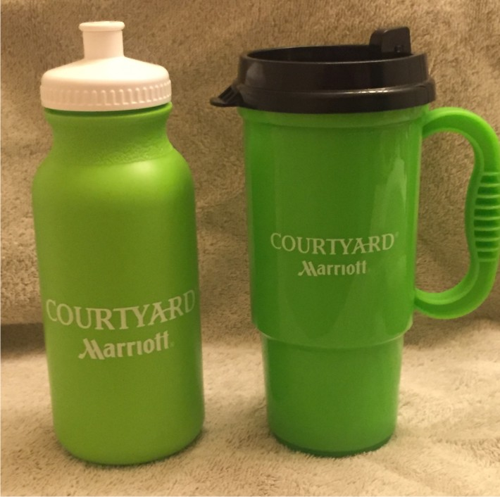 Sport Bottles (20oz., Push-Pull Cap) and Travel Mugs (16oz., No-Spill Lid) - BPA Compliant