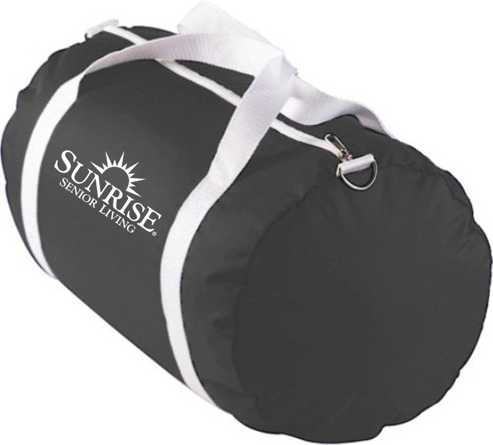 Sport Barrel Bags - Carrying Strap with Zipper.