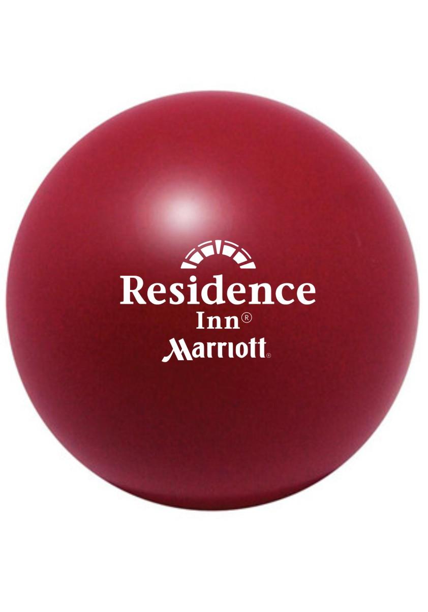 """Stress Balls,  Burgundy.   3"""" Diameter - Squeeze away stress!"""