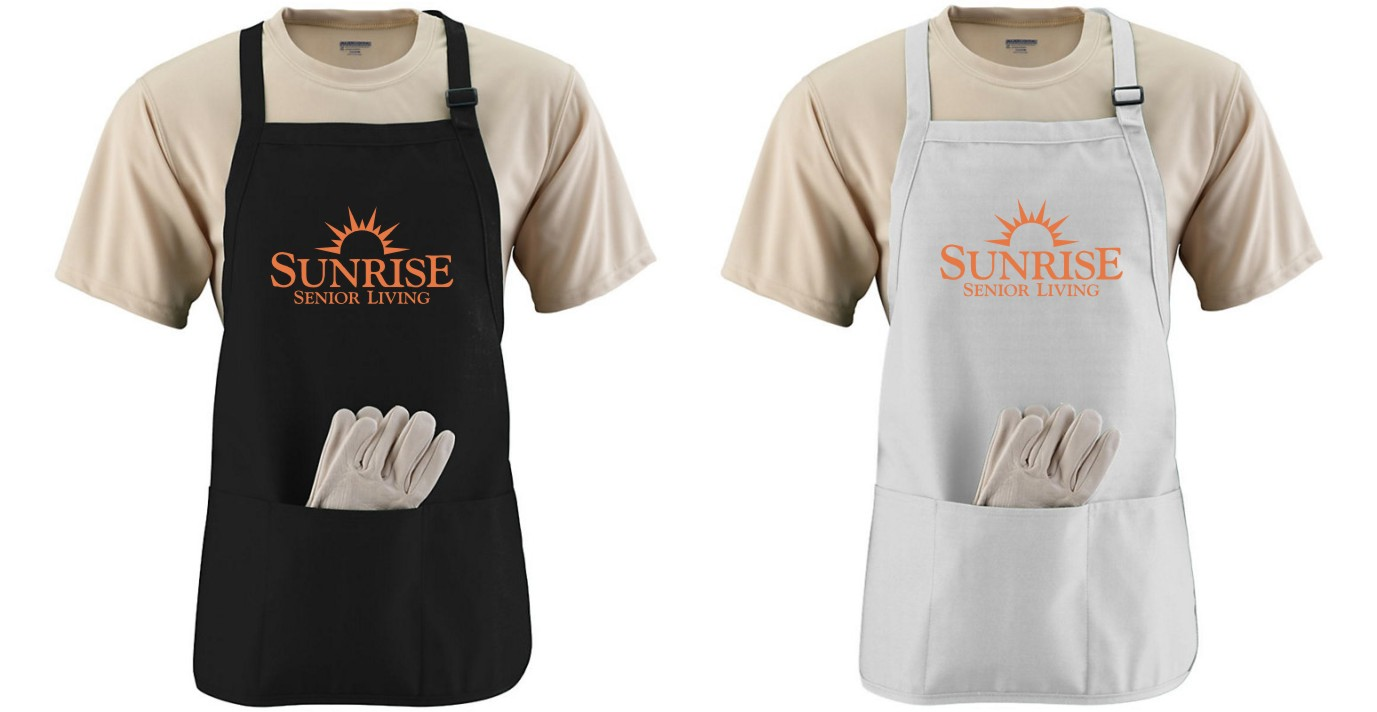 Aprons - 3 Compartments - Adjustable Strap - Made of Durable Cotton Twill  (other colors may be available)
