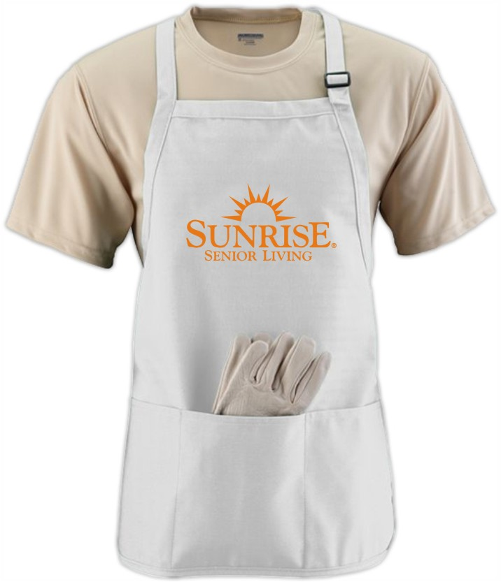 White Aprons - Adjustable Strap - 3 Compartments