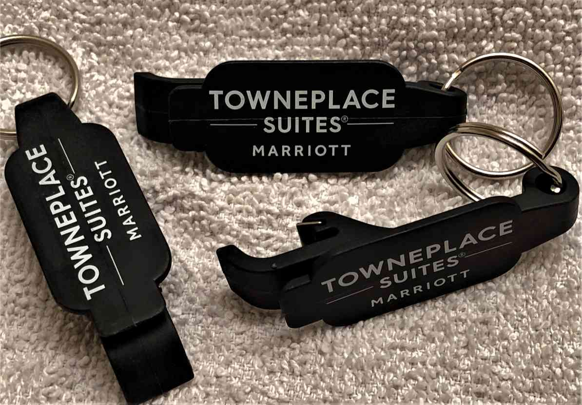 Beverage Wrenches - Stainless Steel Key Ring - Features a Stainless Steel insert to open any bottle top or pop-top cans