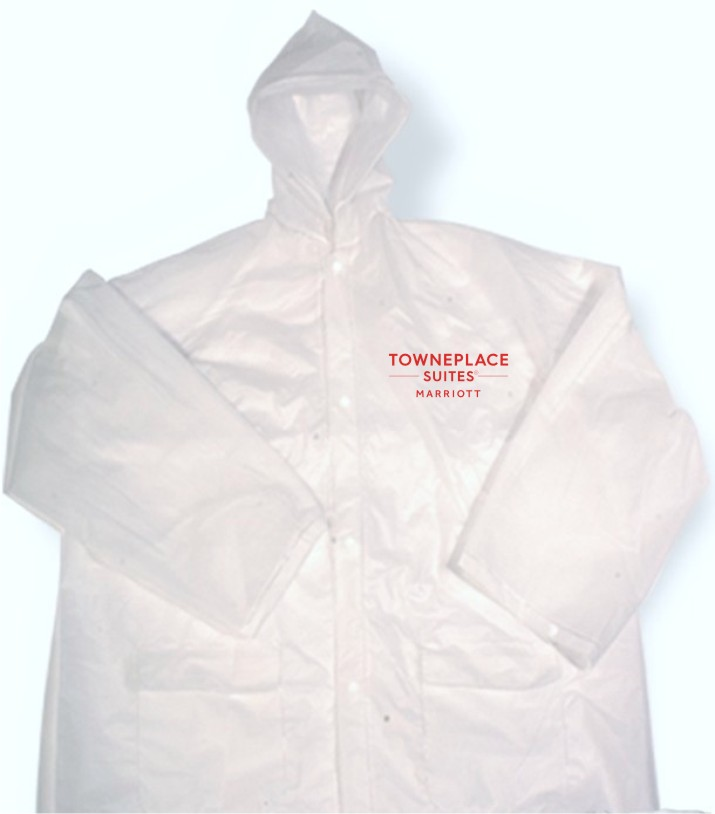 Rain Jackets - Lightweight - Button Down - 2 side pockets - Hoodie