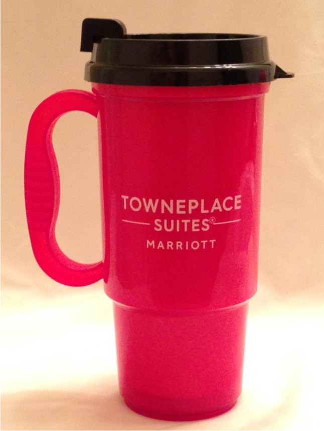 Travel Mugs. 16oz. Insulated - No Spill Lid - 2 Sided Logo