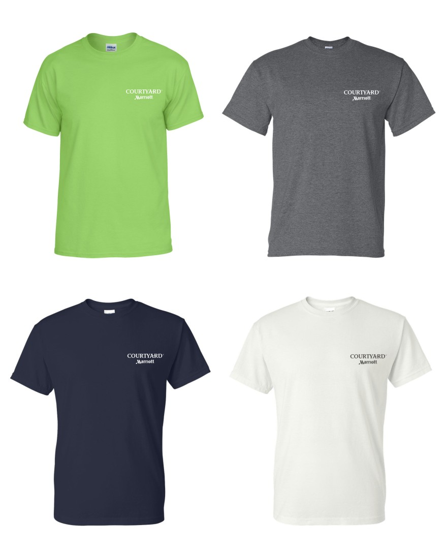 T-Shirts. (Lime Green, Dark Heather, Navy and White)  Heavyweight, 50/50