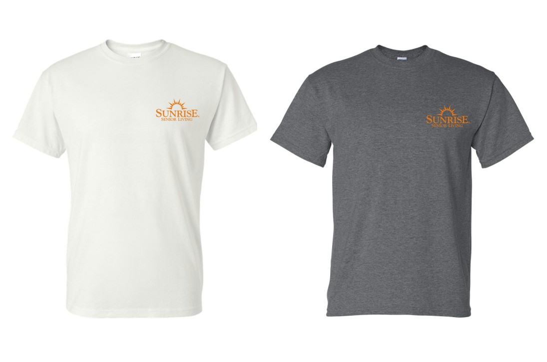 T-shirts, White and Dark Heather.  Heavyweight, 50/50.   - Additional colors may be available, please ask!