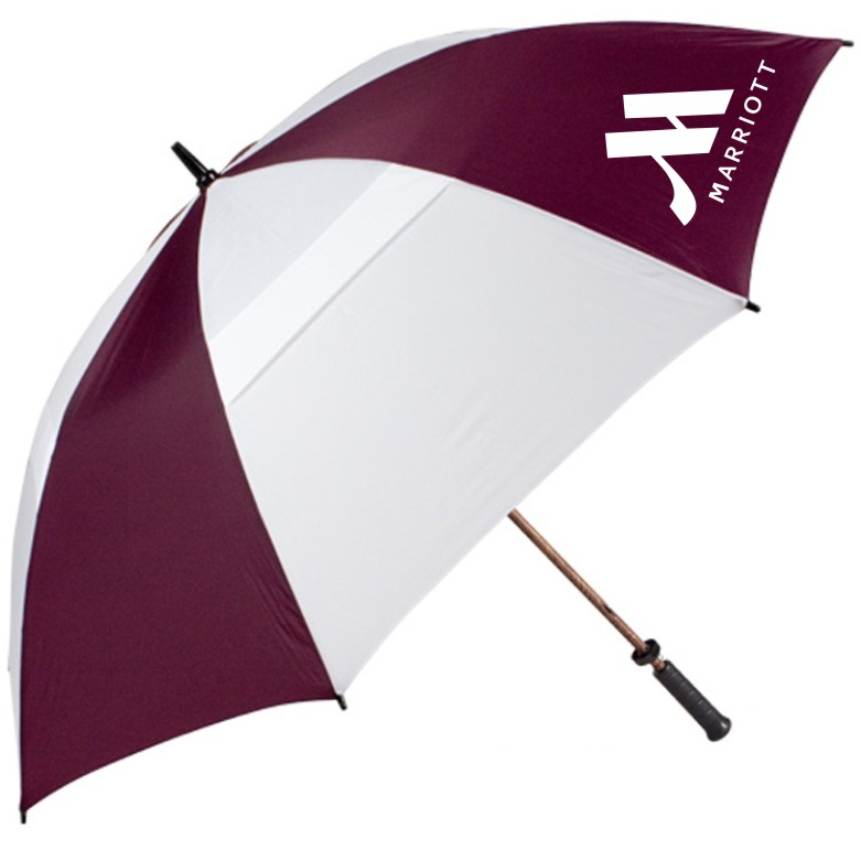 "62"" Large Golf / Gatehouse Umbrella - 2 Sided Logo!"